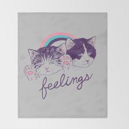 Feelings Throw Blanket