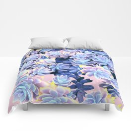 Cactus Fall - Blue and Pink Comforters