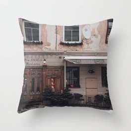 PRIE ANGELO STORE FRONT Throw Pillow