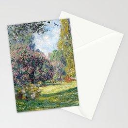 Claude Monet Landscape The Parc Monceau Stationery Cards