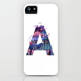 365 Days of Type Letter A Illustration iPhone Case