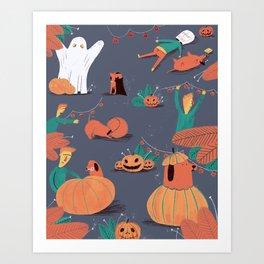 Spooky planning Art Print