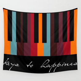 keys to happiness Wall Tapestry