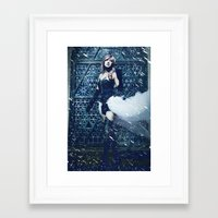 lightning Framed Art Prints featuring Lightning by Imustbedead