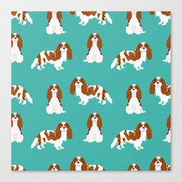 Cavalier King Charles Spaniel blenheim coat dog breed spaniels pet lover gifts Canvas Print