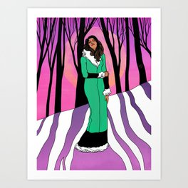Sonja in the Woods Art Print
