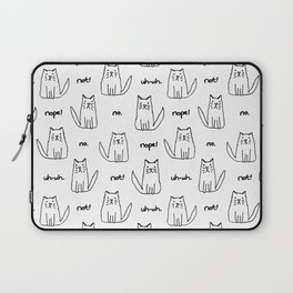 Little Cats with Bad Attitudes Laptop Sleeve