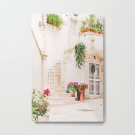 419. White and Flowers Street, Martina Franca, Puglia, Italy Metal Print