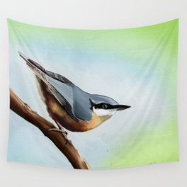 Nuthatch bird Wall Tapestry