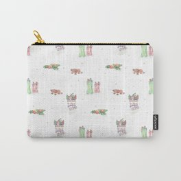 Christmas Boots Pattern Carry-All Pouch