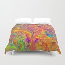 Unicorn psychedelic ice cream Duvet Cover