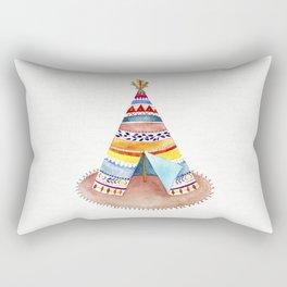 Tepee watercolor Rectangular Pillow