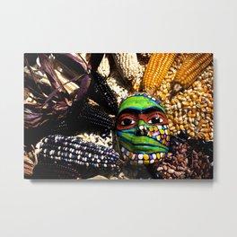 Seed Mask Metal Print