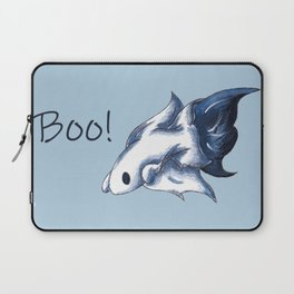 Ghostly Blue (With Text) Laptop Sleeve