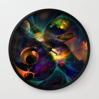 universe Wall Clocks featuring Universe by Robin Curtiss