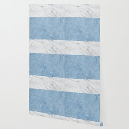 Porcelain blue and white marble Wallpaper