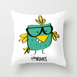 Birdie Nerdie Throw Pillow