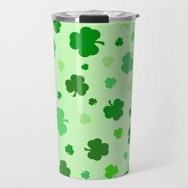 Green Shamrocks Travel Mug