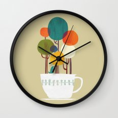 Life in a cup Wall Clock