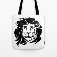 lion king Tote Bags featuring Lion King by Alexandr-Az