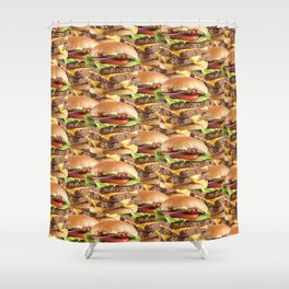 Triple Stack Attack Burger Shower Curtain