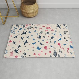 A walk in the park ditsy doodle print Rug