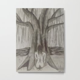 Dreaming By the Willow Metal Print