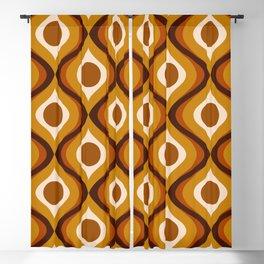 Retro 70s Mid Century Pattern Blackout Curtain