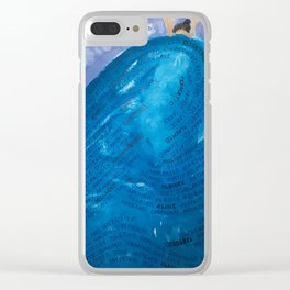 riding the wave Clear iPhone Case