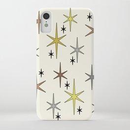 Mid Century Modern Star Sky Yellow Brown Gray iPhone Case