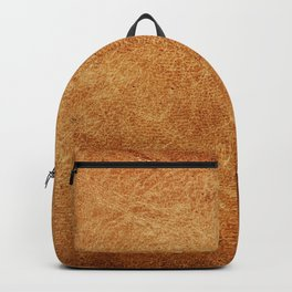 Brown leather background, vintage style Backpack