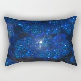 Blue Glass Bubbles Rectangular Pillow