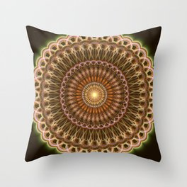 Patterns mandala in earth tones Throw Pillow