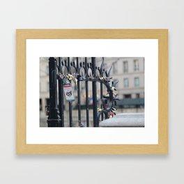 Paris Love Locks Framed Art Print