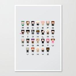 Harry Potter Alphabet Canvas Print