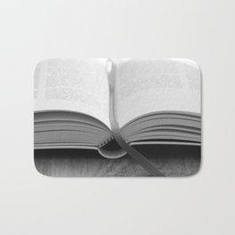 Bible Black and White Bath Mat