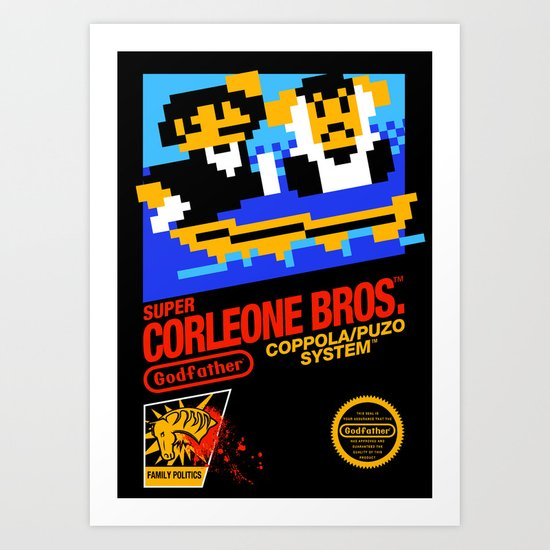 Super Corleone Bros Art Print