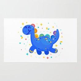 Fantasy Cute Dino Brontosaurus Rug