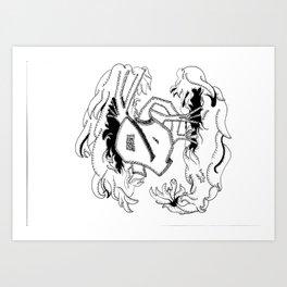 Over the Edge: Heart Art Print