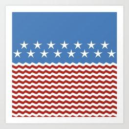 Patriotic Wave Art Print