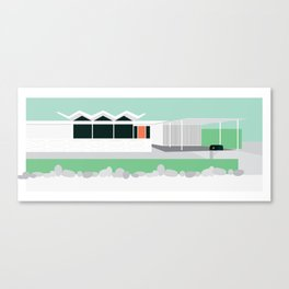 Mid Century Modern House 11: Palm Springs Architecture: Desert Style: Wexler Canvas Print