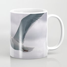 flying white seagull Coffee Mug