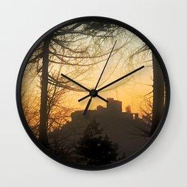 Trifels castle at evening Wall Clock