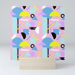 Postmodern Sea ll in Pastel 80's Mini Art Print