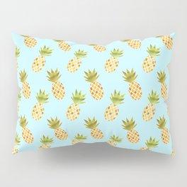 Blue Tropical Pineapple Pattern Pillow Sham
