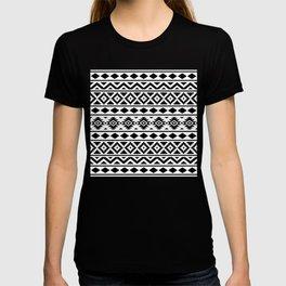 Aztec Essence Ptn III Black on White T-shirt