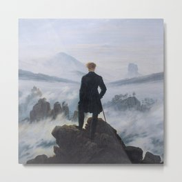 Wanderer above the Sea of Fog - Caspar David Friedrich Metal Print