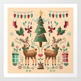 Vintage Holiday Christmas Jubilee Art Print