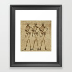 walking skeleton beauties Framed Art Print