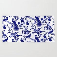 Royal french navy peacock Beach Towel